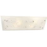 BRIGHT STAR - WHITE GLASS CLEAR ACRYLIC CRYSTALS CEILING FITTING 4X60W (CF634/4 WHITE)