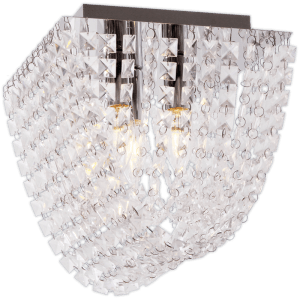BRIGHT STAR - CHROME CLEAR ACRYLIC CRYSTALS CEILING FITTING 3X40W (CF643/3 CHROME)