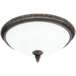 BRIGHT STAR - OLD GOLD ALABASTER GLASS CEILING FITTING 3X60W (CF7010/3 OLD GOLD)
