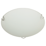 BRIGHT STAR - FROSTED GLASS CHROME CLIPS CEILING FITTING