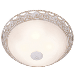 BRIGHT STAR - FRENCH WHITE ALABASTER GLASS CEILING FITTING 4X60W (CF816/4 FRENCH WHITE)