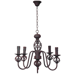 BRIGHT STAR - RUST IRON CHANDELIER 5X60W (CH065/5 RUST)