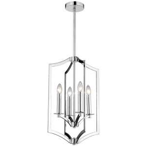 BRIGHT STAR - CHROME CHANDELIER 4X60W (CH086/4 CHROME)