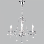 BRIGHT STAR - CHROME CHANDELIER CRYSTALS 3X60W (CH104/3 CHROME)