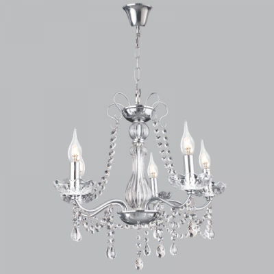 BRIGHT STAR - CHROME CHANDELIER CRYSTALS 5X60W (CH104/5 CHROME)