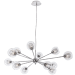 BRIGHT STAR - CHROME CLEAR GLASS CHANDELIER