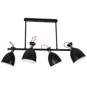 BRIGHT STAR - BLACK IRON CHROME CHANDELIER 4X60W (CH259/4 BLACK)