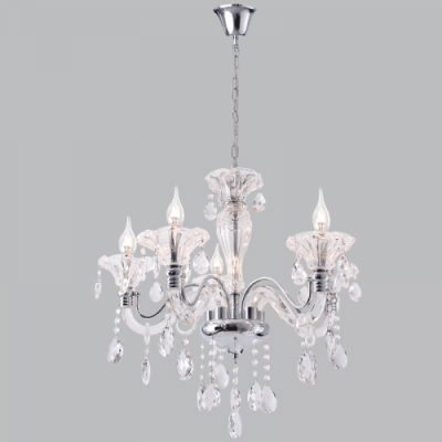 BRIGHT STAR - CHROME CHANDELIER CRYSTAL 5X40W (CH266/5 CHROME)