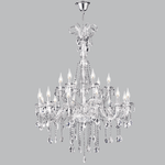 BRIGHT STAR - CHROME CHANDELIER CRYSTALS 18X40W (CH267/12+6 CRYSTAL)