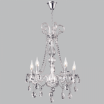 BRIGHT STAR - CHROME CHANDELIER CRYSTAL 5X40W (CH267/5 CHROME)