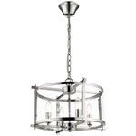 BRIGHT STAR - CHROME CHANDELIER CLEAR GLASS 4X60W (CH340/4 CHROME)