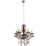 BRIGHT STAR - SMOKE ACRYLIC CRYSTAL CHANDELIER