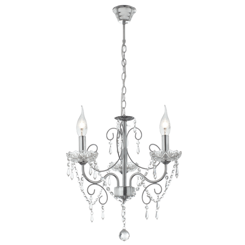 BRIGHT STAR - CHROME CHANDELIER CRYSTALS 3X60W (CH388/3 CHROME)