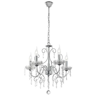 BRIGHT STAR - CHROME CHANDELIER CRYSTALS 5X60W (CH388/5 CHROME)