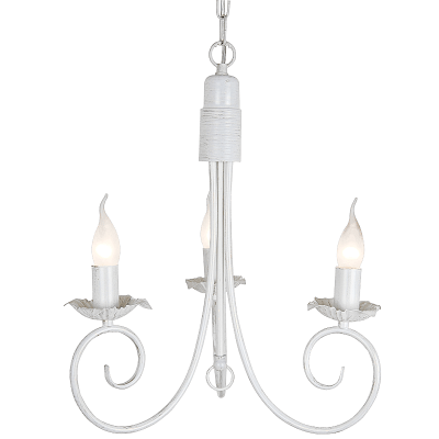 BRIGHT STAR - FOSSIL WHITE CHANDELIER 3X60W (CH3901/3 FOSSIL WHITE)