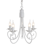 BRIGHT STAR - FOSSIL WHITE CHANDELIER 5X60W (CH3901/5 FOSSIL WHITE)