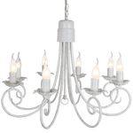 BRIGHT STAR - FOSSIL WHITE CHANDELIER 8X60W (CH3901/8 FOSSIL WHITE)