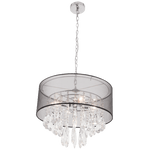 BRIGHT STAR - CHROME CHANDELIER K9 CRYSTALS BLACK SHADE