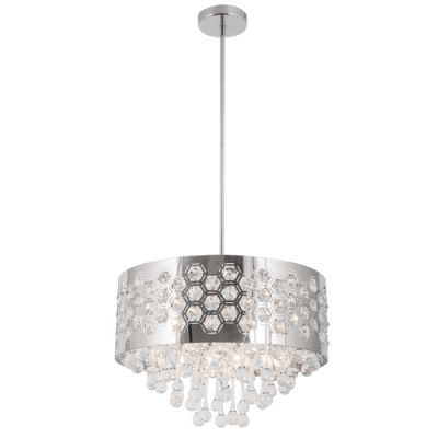 BRIGHT STAR - CHROME CHANDELIER K9 CRYSTALS