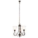 BRIGHT STAR - BLACK GOLD CHANDELIER ALABASTER GLASS 3X60W (CH481/3 BLACK GOLD)