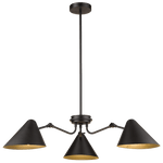 BRIGHT STAR - BLACK CHANDELIER ADJUSTABLE 6X40W (CH514/3 BLACK)