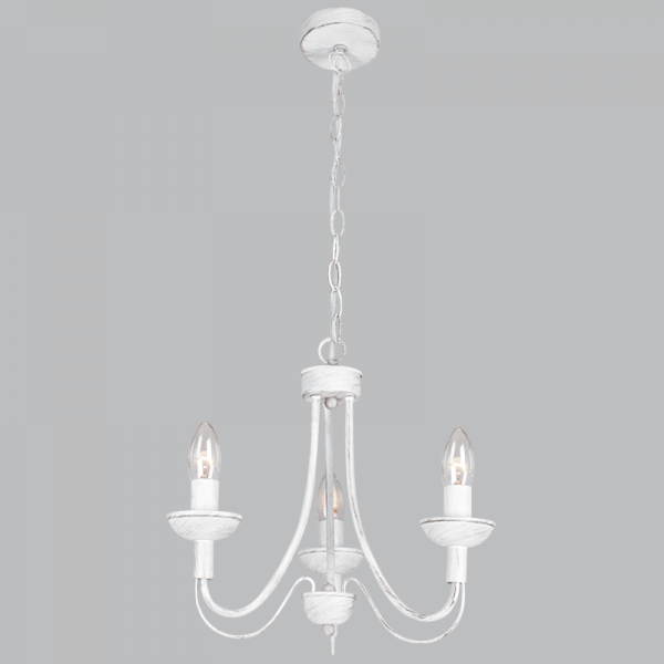 BRIGHT STAR - FOSSIL WHITE CHANDELIER 3X60W (CH524/3 FOSSIL)