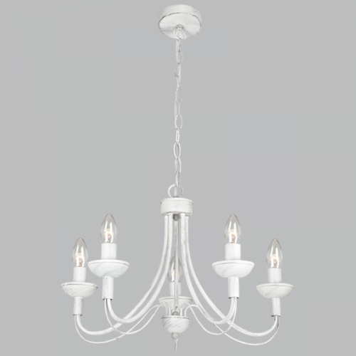 BRIGHT STAR - FOSSIL WHITE CHANDELIER 5X60W (CH524/5 FOSSIL)