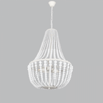 BRIGHT STAR - WHITE METAL WOOD CHANDELIER 3X11W (CH890/3 WHITE)