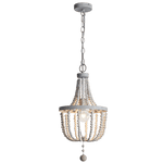 BRIGHT STAR - BEAD METAL WOOD CHANDELIER 60W (CH893/1 BEAD)