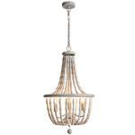 BRIGHT STAR - BEAD METAL WOOD CHANDELIER 3X40W (CH895/3 BEAD)