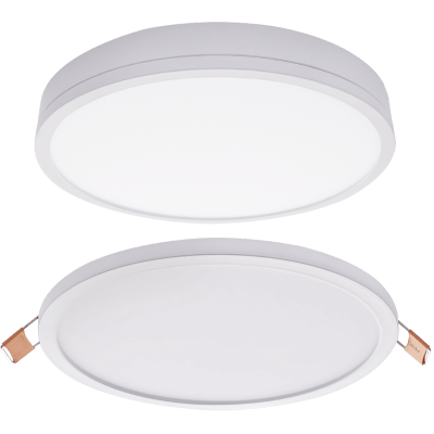 BRIGHT STAR - WHITE ALUMINIUM POLY COVER DOWNLIGHT 24W 4000K (DL074 WHITE)