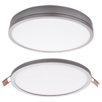 BRIGHT STAR - SATIN ALUMINIUM POLY COVER DOWNLIGHT 8W 4000K (DL075 SATIN)