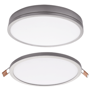 BRIGHT STAR - SATIN ALUMINIUM POLY COVER DOWNLIGHT 24W 4000K (DL077 SATIN)