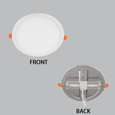 BRIGHT STAR - ALUMINIUM POLY COVER PANEL DOWNLIGHT 6W 3000K (DL550 WARM)