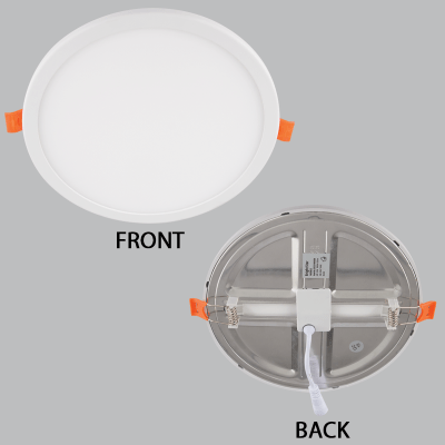 BRIGHT STAR - ALUMINIUM POLY COVER PANEL DOWNLIGHT 15W 3000K (DL554 WARM)
