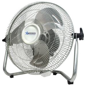 BRIGHT STAR - CHROME FLOOR FAN TILT HEAD