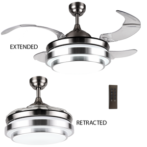 BRIGHT STAR - SATIN 4 BLADE CEILING FAN/LIGHT