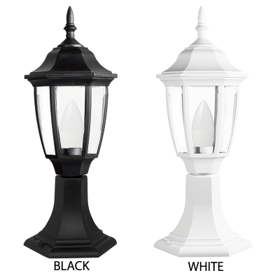 BRIGHT STAR - BLACK/WHITE PP 6 PANEL BEVELLED CLEAR PC PILLAR