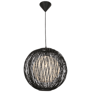 BRIGHT STAR - BLACK BAMBOO NATURAL TWINE COVER 60W (PEN194/1 BLACK)