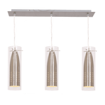 BRIGHT STAR - SATIN BAR CORD PENDANT CLEAR GLASS