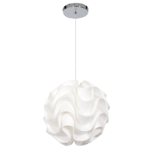 BRIGHT STAR - WHITE PLASTIC PENDANT 40W (PEN420/1 WHITE)