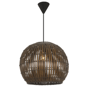 BRIGHT STAR - BROWN BAMBOO COVER PENDANT 60W (PEN431/1 BROWN)