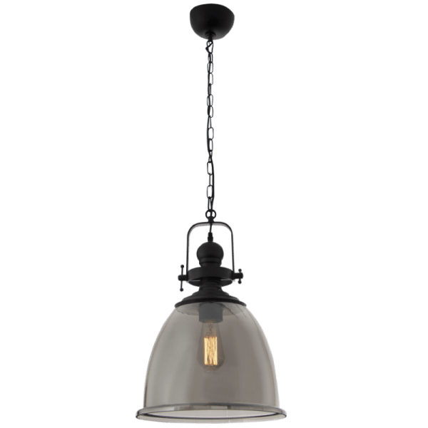 BRIGHT STAR - SMOKE GLASS PENDANT 60W (PEN597 SMOKE)