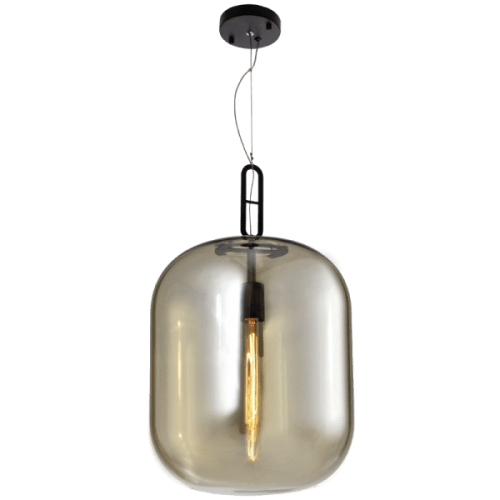 BRIGHT STAR - COGNAC GLASS PENDANT 60W (PEN598 COGNAC)
