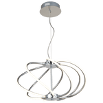 BRIGHT STAR - CHROME PVC PENDANT