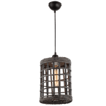 BRIGHT STAR - IRON RATTAN PENDANT 60W (PEN642 RATTAN)