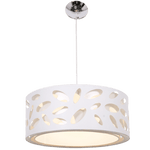 BRIGHT STAR - CHROME WHITE SHADE PENDANT