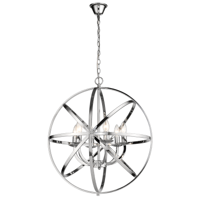 BRIGHT STAR - CHROME PENDANT