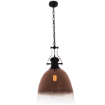 BRIGHT STAR - BLACK ROSE GOLD GLASS PENDANT 60W (PEN762 ROSE)