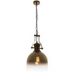 BRIGHT STAR - SATIN GLASS GOLD PENDANT 60W (PEN763 GOLD)